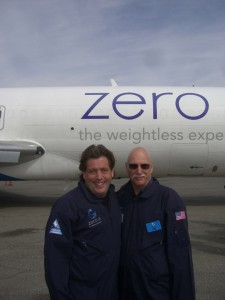 Me and Dad outside the Plane